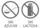 Iconos para nutricosméticos sin azucar y sin lactosa