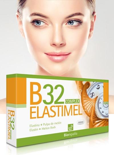 Mujer con estuche del B32 Elastimel